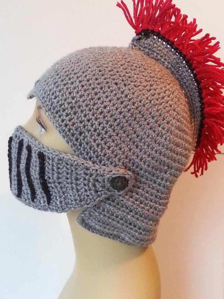 Crochet Knight Helmet : Crocheted Knights Helmet My Crochet Work Pinterest