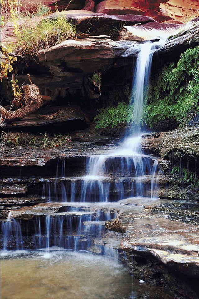 Waterfall into Lake Powell