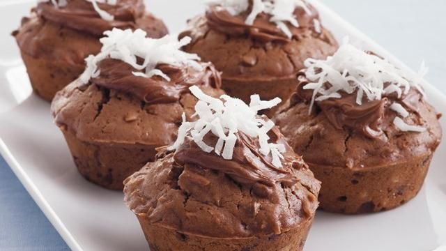 Chocolate-Coconut Muffins | Chocolate | Pinterest