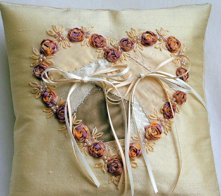 Coussin anneaux de mariage  I love hearts  Pinterest