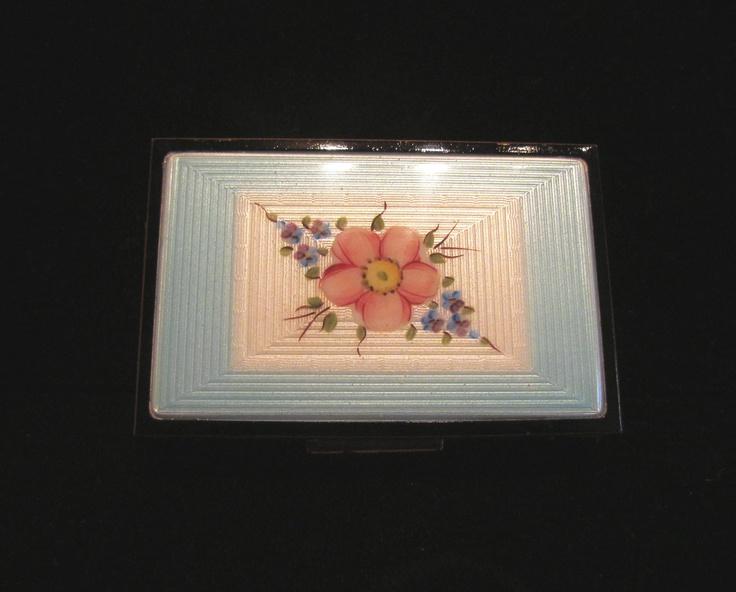 Vintage Cigarette Case Elgin American Guilloche Cigarette Case 1930's