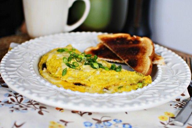 Shallot and Mushroom Omelets | breakfast | Pinterest
