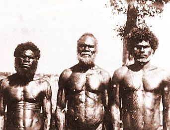 Aborigines from Bathurst Island (1939), one of the Tiwi Islands in the Northern Territory
