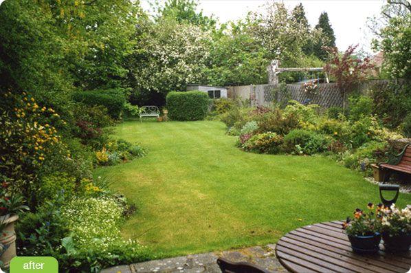 Suburban Backyard Garden : suburban garden, big strip for kids to play