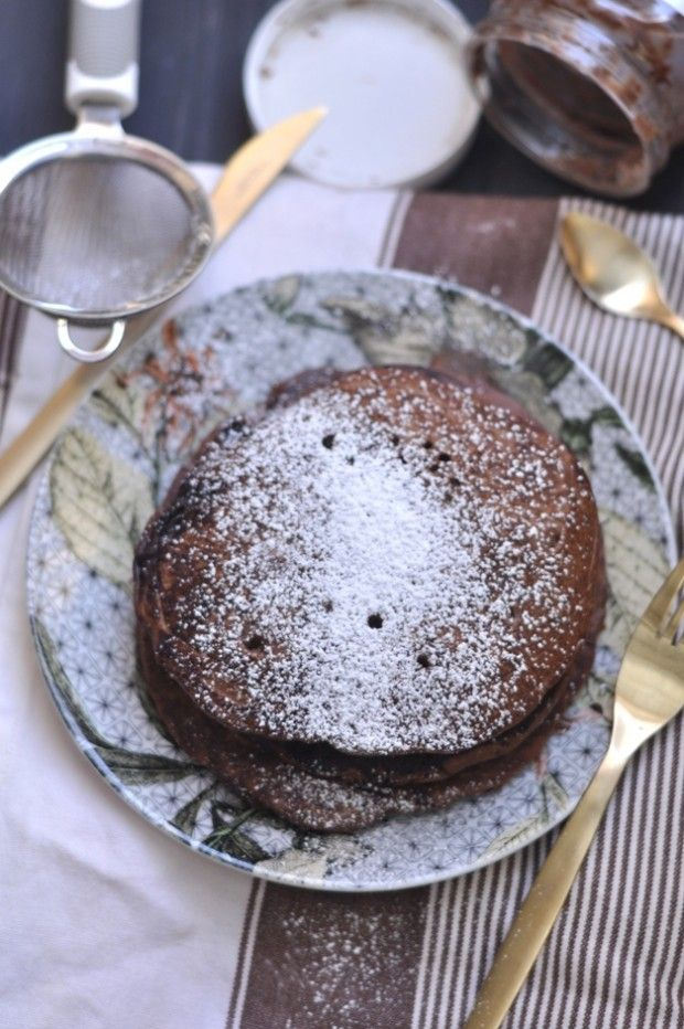 Chocolate Nutella Pancakes | all things nutella | Pinterest