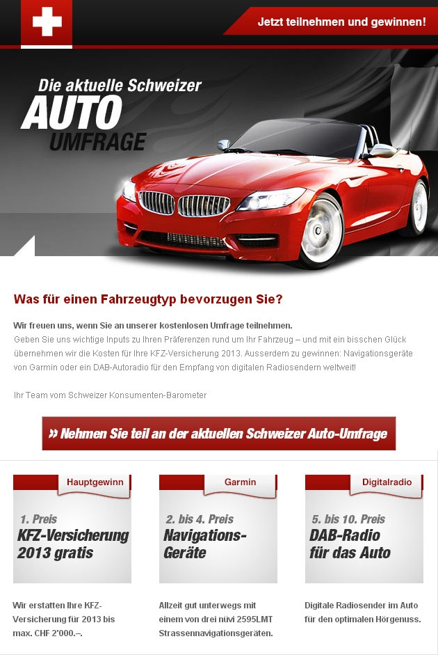 Newsletter template for car drivers survey in ... | Email Marketing a ...