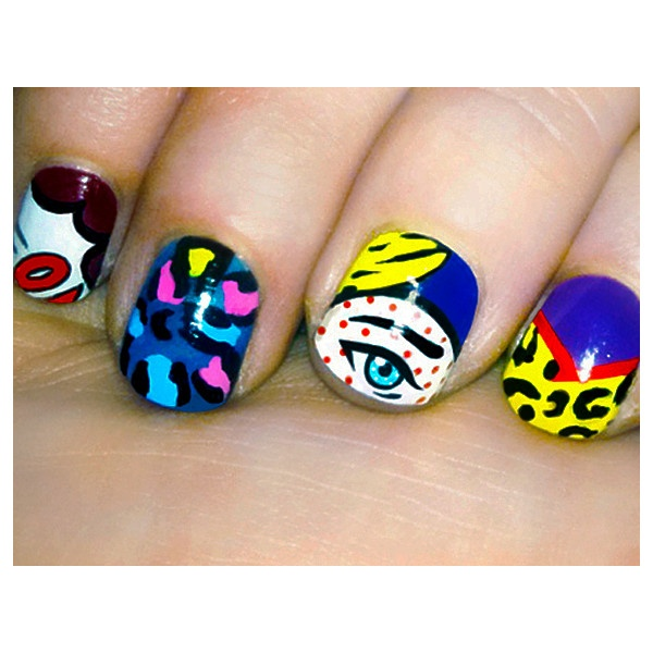 Mini Masterpieces Nail Art Inspired By Real Art found on Polyvore