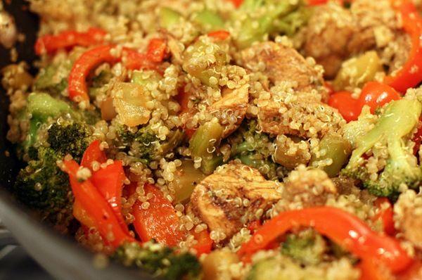 balsamic chicken with quinoa & veggies | Yummy | Pinterest