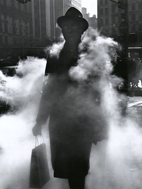Arthur Tress - Man in Steam, New York, 1968