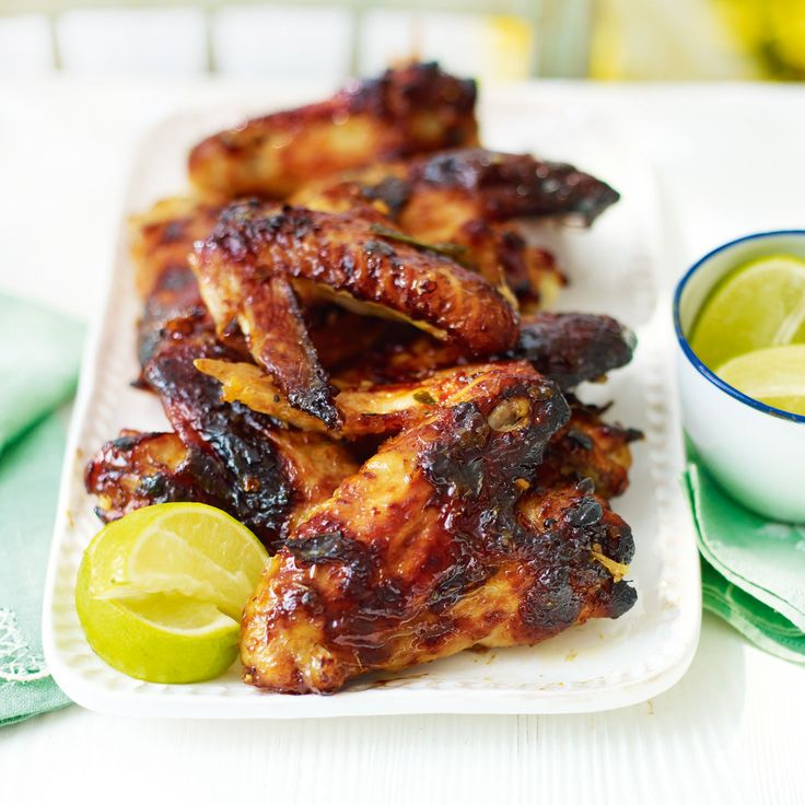 Sticky chicken wings with lemongrass and lime leaf. This easy marinade ...