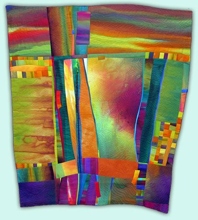 "Melody Johnson art quilt ""Desert Sky"""