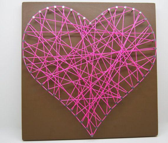 Wedding, Anniversary GiftString Art, Heart