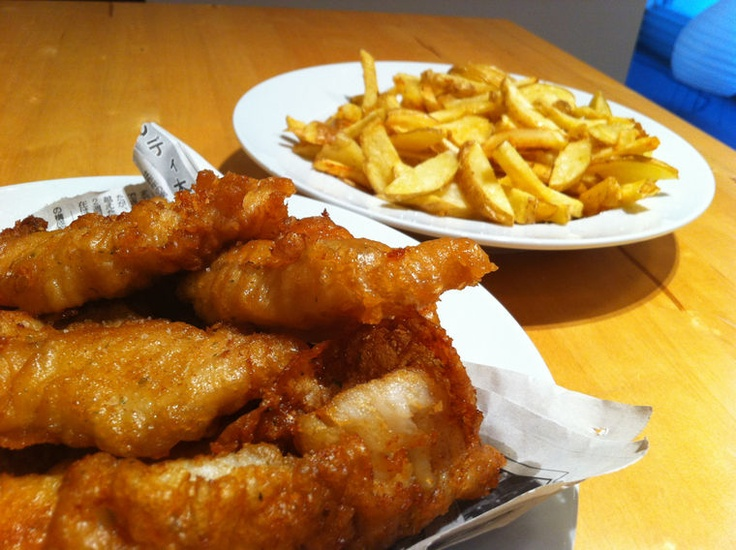 Beer battered fish and chips recipe dishmaps for Beer battered fish and chips