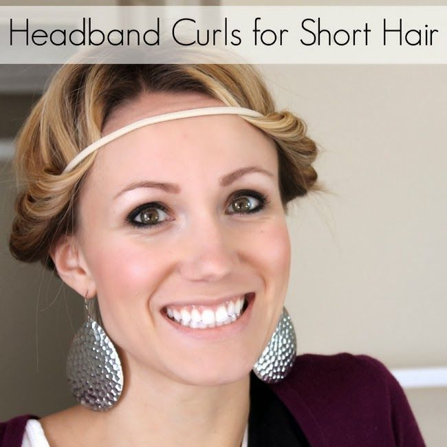 Headband Curls Can Work For Short Hair Too How To Make