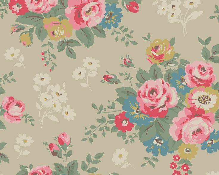 Rose Bunch - downloadable wallpaper ~ Cath Kidston