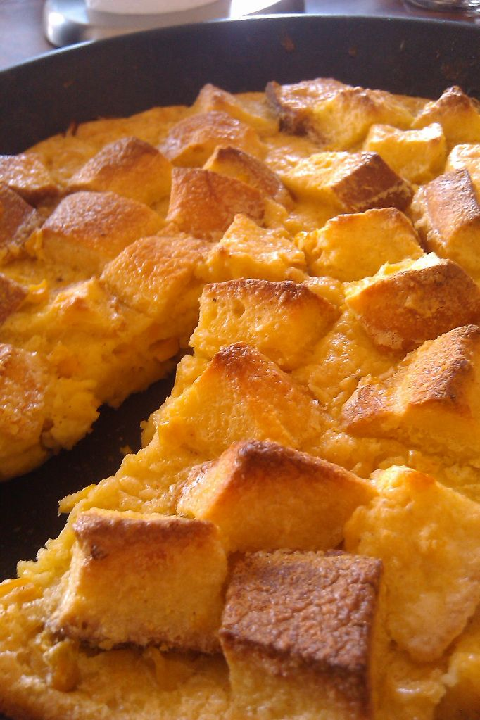 Sweet Corn Bread Pudding | Recipes | Pinterest