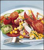 Madison's favorite: Lobster Salad with Potatoes, Corn and Tomatoes