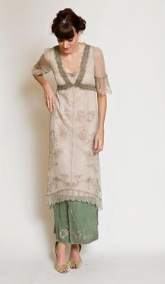 Vintage style embroidered romantic prom Nataya 40007 Titanic Tea Dress