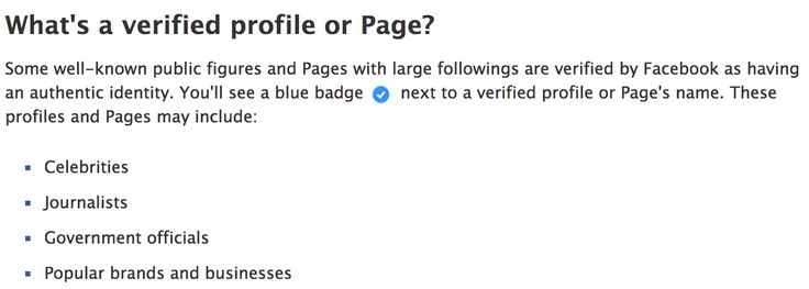facebook fanpage verification