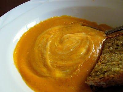 Sweet Potato Soup and Cheesy Soda Bread