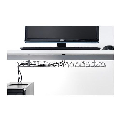 signum cable management horizontal silver color. Black Bedroom Furniture Sets. Home Design Ideas