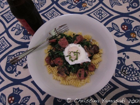 Pasta with Kale, Mushrooms, and Sausage | Food | Pinterest