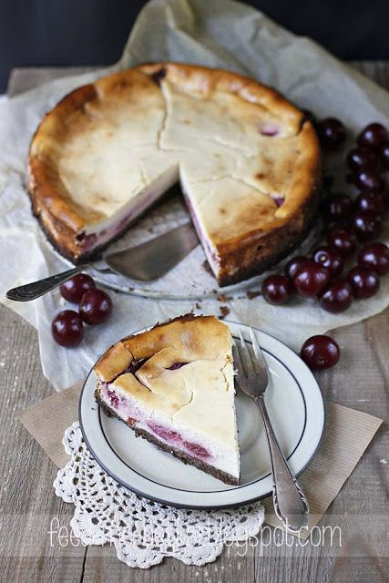 Light Cherry Cheesecake | Recipes I love | Pinterest
