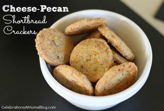 cheese and pecan shortbreak crackers
