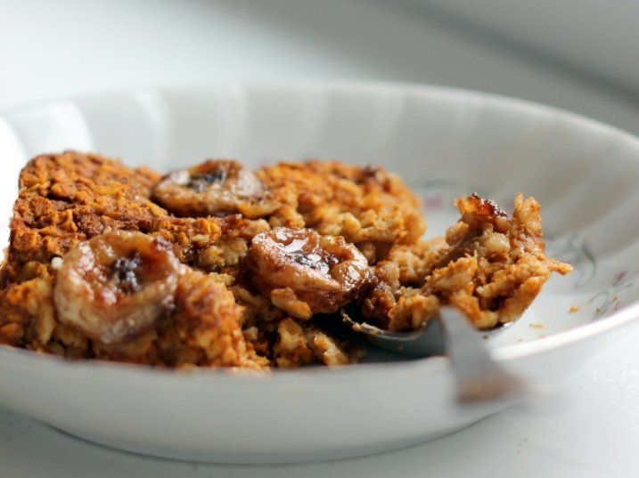 Baked Pumpkin Pie Oatmeal with Vanilla Bean Caramelized Bananas | Rec ...