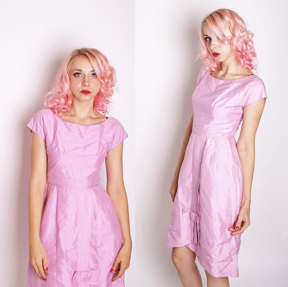 Lavender Mad men Cocktail Party Dress / Cocktail by aiseirigh, $118.00