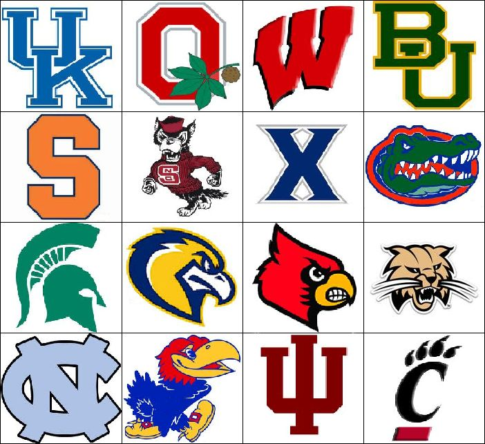 college football logos and names ncca odds