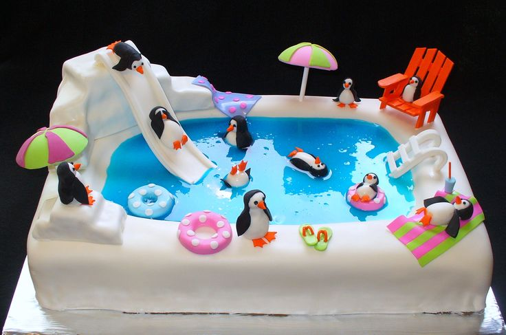 Pool Party Cake Party - Swim surf Pinterest