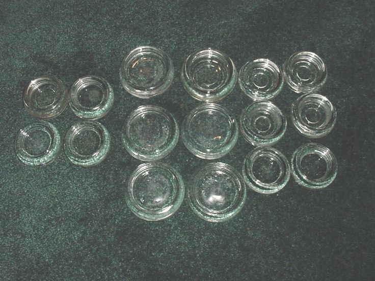 Vintage Glass Furniture Coasters Floor Protectors Hazel Atlas
