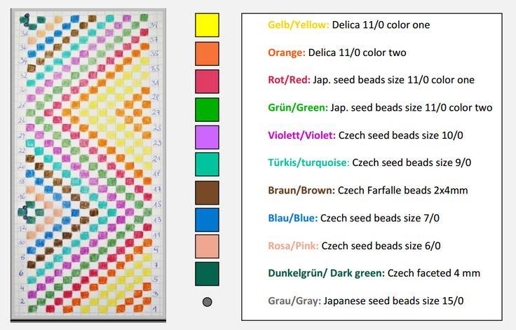 Мозаичное плетение бусин