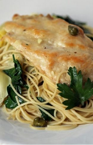 Chicken With Artichokes and Angel Hair | Recipe