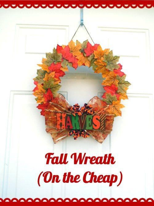 Cute cheap fall wreath crafts pinterest
