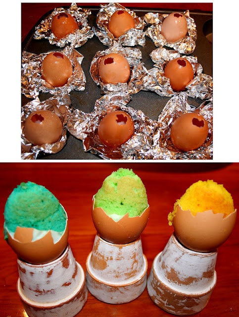 """Easter Egg Cupcakes With """"Yolk"""" Centers Recipe — Dishmaps"""