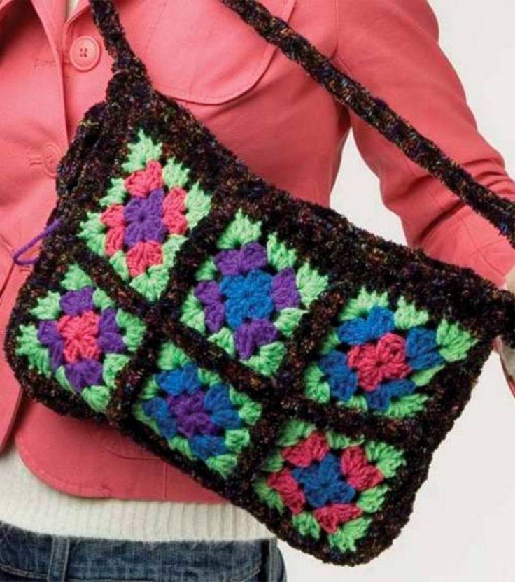 Granny Square Purse Crochet Bags, Clutches & Purses Pinterest