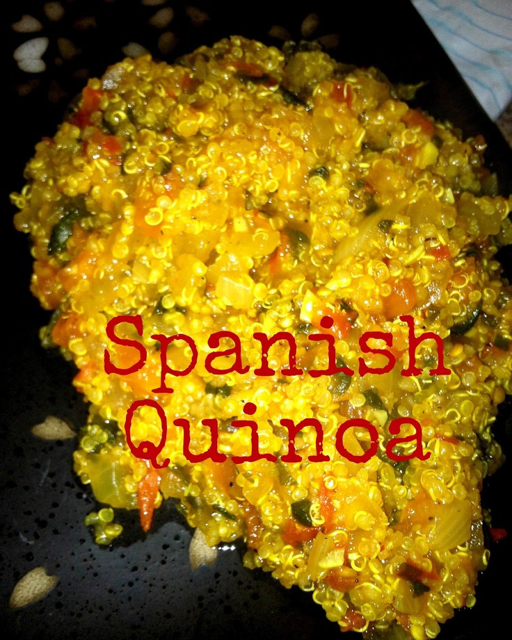 Spanish Quinoa: Healthy Side Dish | Healthier recipes | Pinterest