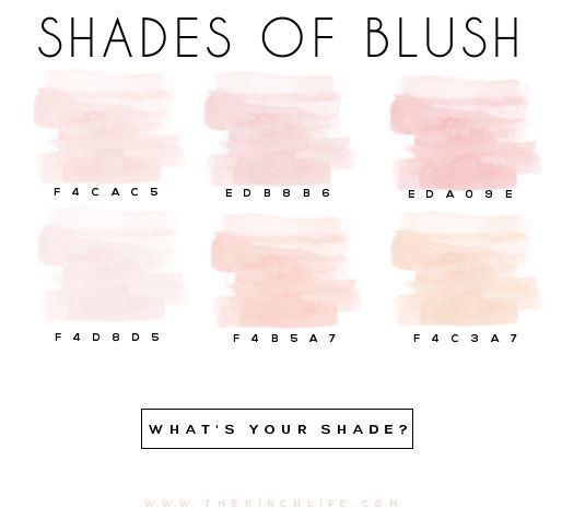 blush // via the kinch life
