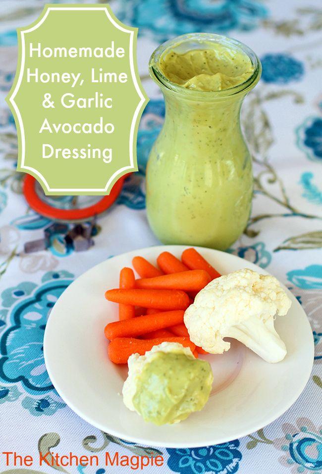 Homemade Honey, Lime & Garlic Avocado Dressing. I'm going to rock thi...