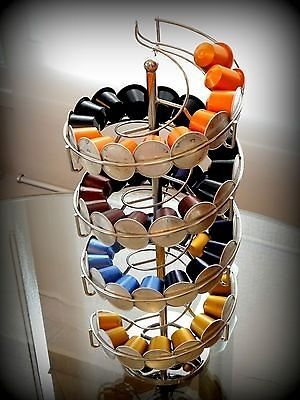 new nespresso coffee capsule pod holder bnib spiral rotates stand. Black Bedroom Furniture Sets. Home Design Ideas