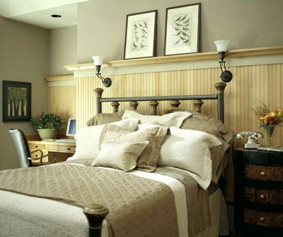 like the beadboard and the desk bedrooms pinterest