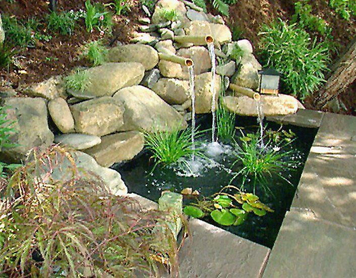 Water feature bamboo fountain gardening pinterest for Bamboo water feature