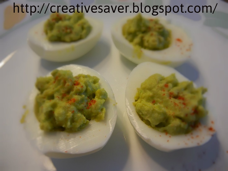 Avocado hard boiled eggs | Chef G | Pinterest