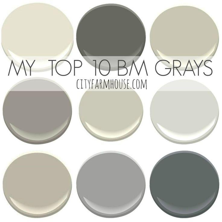 My Top 10 Benjamin Moore Grays