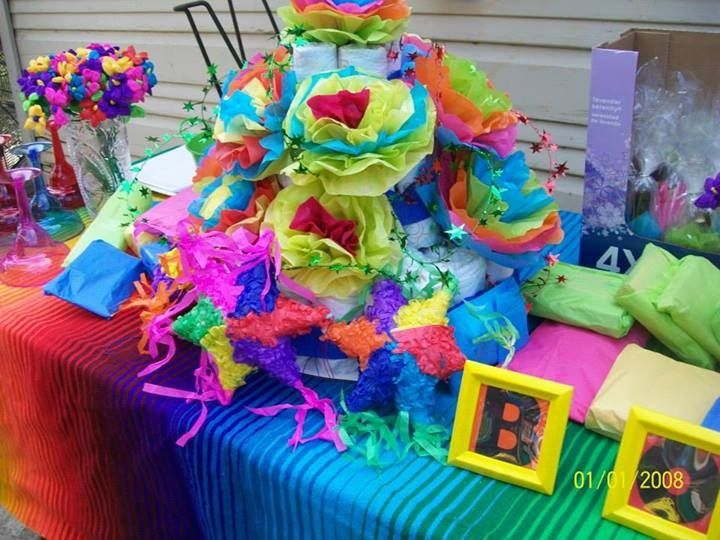 Fiesta diaper cake starbys fiesta baby shower pinterest - Fiesta baby shower ...