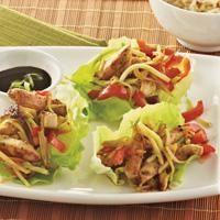 Chicken Stir Fry Lettuce Wraps under 200 calories!