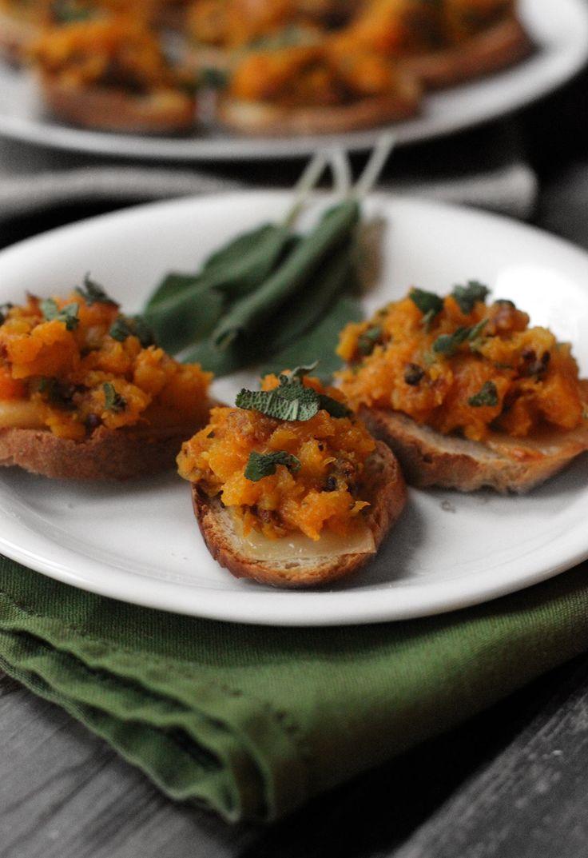 Thanksgiving Thursdays: Butternut Squash Bruschetta with bacon, sage ...
