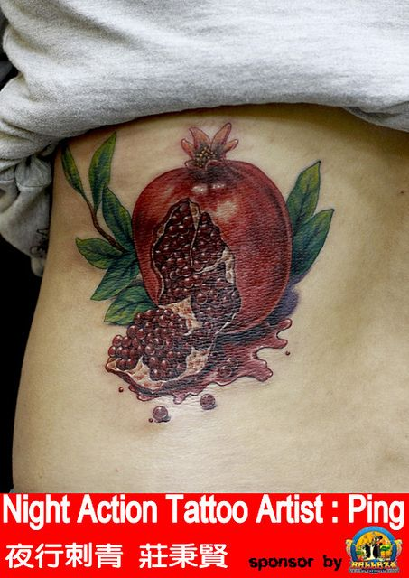 pomegranate tattoo google search ink reference points pintere. Black Bedroom Furniture Sets. Home Design Ideas
